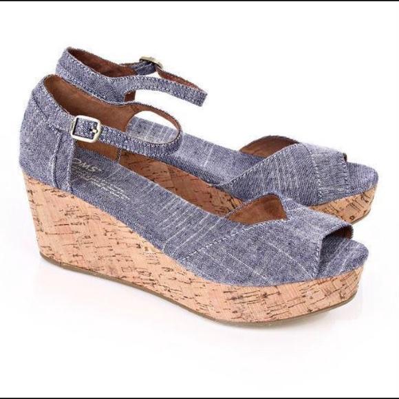 d4425dfa997 Toms Denim Wedges. M 5acbfbbbf9e501c30298a3ad. Other Shoes ...